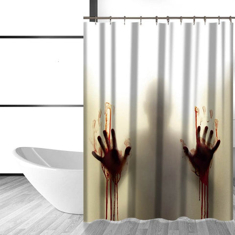 Bloody Horror Shadow Printed Shower Curtain - Printeera Store