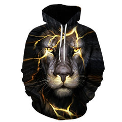 Power Lightning Lion King Hoodie - Printeera Store