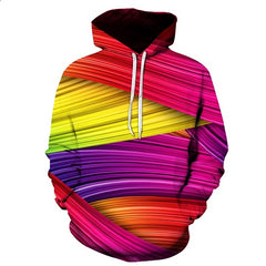 Abstract Colorful Covering Bandage Art Hoodie - Printeera Store
