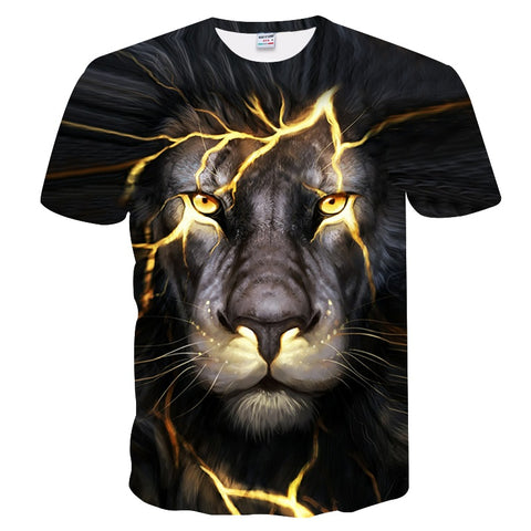 Power Lightning Lion King Tee Shirt - Printeera Store