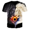 Image of Total Eclipse Lion Dark and Light Tee Shirt - Printeera Store
