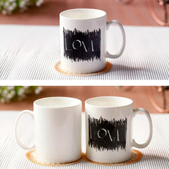 Scratching Love Color Changing Coffee Mug