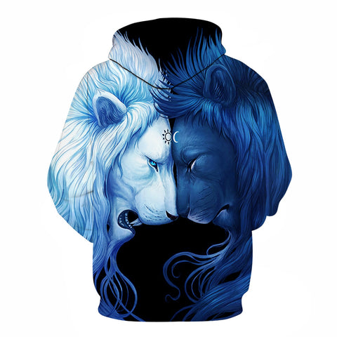 Brotherhood Lion Hoodie by JoJoes Art