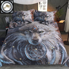 The Wolf Warrior Bedding Set by Sunima-Mystery Art