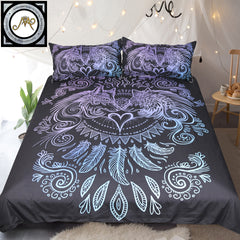 The Wolves Heart Bedding Set by Sunima-Mystery Art (Dark Edition)