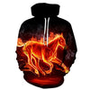 Image of The Burning Horse Hoodie - Printeera Store