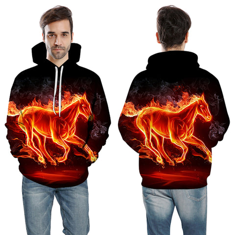 The Burning Horse Hoodie - Printeera Store