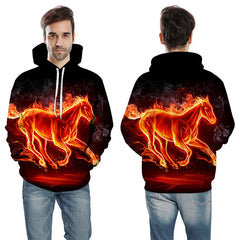 The Burning Horse Hoodie