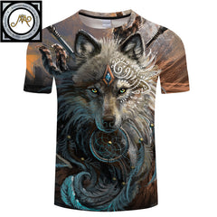 The Wolf Warrior T-Shirt by Sunima-Mystery Art