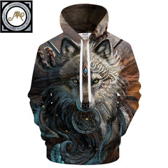 The Wolf Warrior Hoodie by Sunima-Mystery Art