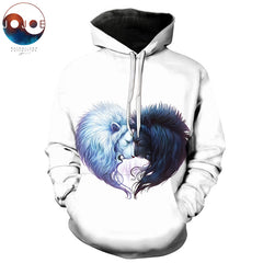 Brotherhood Lion Heart Hoodie by JoJoes Art