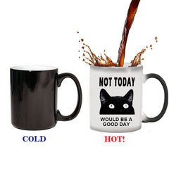 Funny Cat Not Today Color Changing Coffee Mug