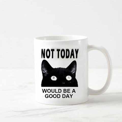Funny Cat Not Today Color Changing Coffee Mug - Printeera Store