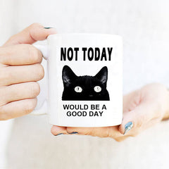 Funny Cat Not Today Coffee Mug