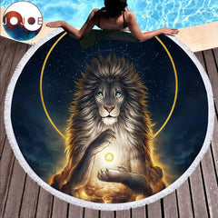 Soul Keeper Round Beach Towel by JoJoes Art