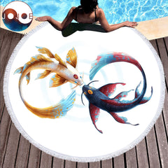 Eternal Bond Round Beach Towel