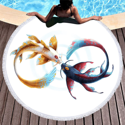 Eternal Bond Round Beach Towel - Printeera Store