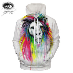 Rainbow Mane Hoodie by Pixie Cold Art