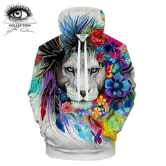 King Of The Lion Hoodie by Pixie Cold Art