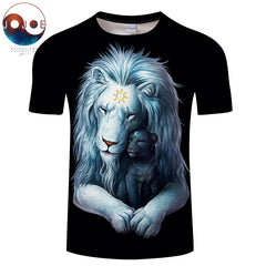 Child of Light Lion T-Shirt by JoJoes Art (Dark Edition)