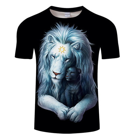 Child of Light Lion T-Shirt (Dark Edition) - Printeera Store