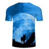 Image of Blue Moon Wolf T-Shirt - Printeera Store