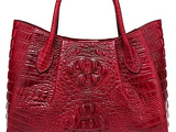 Embossed Croc Leather Bag