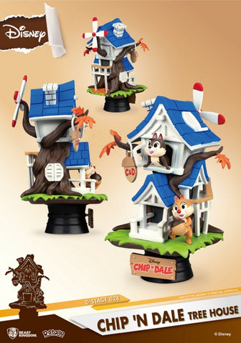 【已截訂】Beast Kingdom D-Stage Chip & Dale Tree House PVC Figure