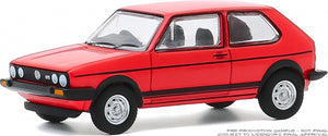 【已截訂】Greenlight 1/64 Hot Hatches Series 1 - 1982 Volkswagen Golf GTI - Red Solid Pack
