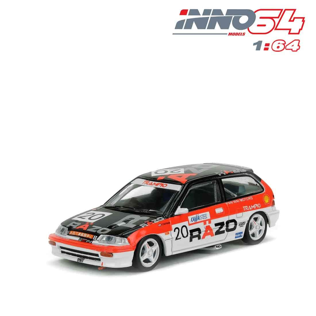 【已截訂】Inno Models Honda Civic EF3 Gr.A No20 RAZO Macau Guia Race 1989 Class Winner 1/64 Diecast Car