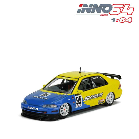 【已截訂】Inno Models Honda Civic Ferio Gr.A No95 SPOON Macau Guia Race 1995 1/64 Diecast Car