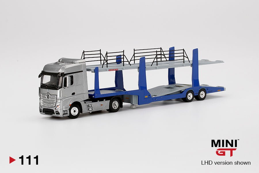 【已截訂】TSM Mercedes-Benz Actros With Car Carrier Trailer LHD 1/64