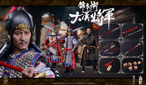 【已截訂】DINGSHENG TOYS Imperial guards of the Ming Dynasty (Handmade pure copper armor ) -B Rubi version Silvery armor 1/6 Action Figure