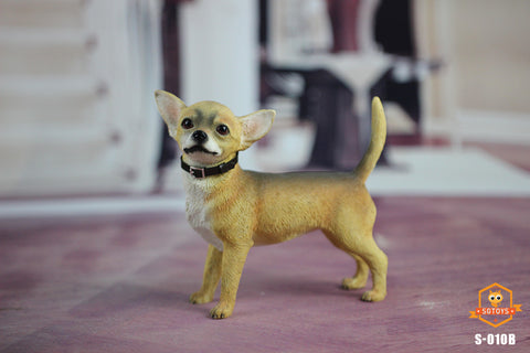【預訂日期至30-Jul-19】SGTOYS 1/6 Simulated Animal Chihuahua Dog Yellow Figure