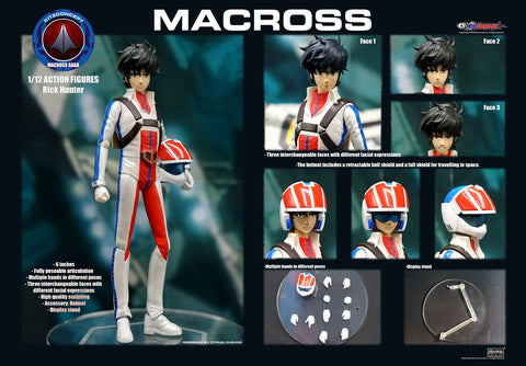 【已截訂】KitzConcept Macross Rick Hunter 1/12 Action Figures