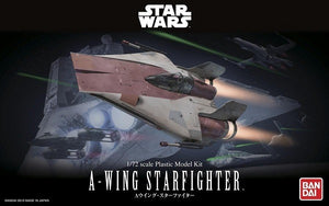 【現貨】Bandai Star Wars A-Wing Star Fighter 1/72 Plastic Model Kit (模型)