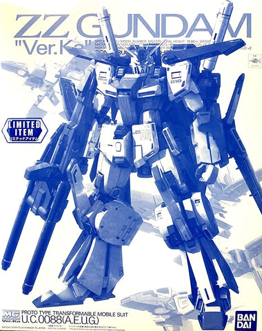 【現貨】Bandai MSZ-010 ZZ Gundam Ver.Ka (MG) (Clear Ver) Plastic Model Kit (高達模型)