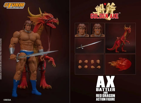 【現貨】Storm Collectibles AX BATTLER & RED DRAGON - GOLDEN AXE ACTION FIGURE