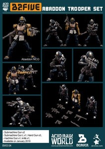 【已截訂】Ori Toy Acid Rain 1/28 Scale Military Infantry Unit (Wave 3b) Abaddon Trooper 2.5'' Soldier 3pcs Set Action Figure