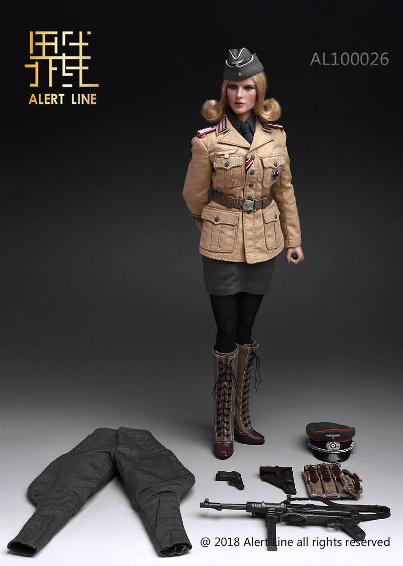 【已截訂】Alert Line 1/6 Afrika Female Officer Action Figure
