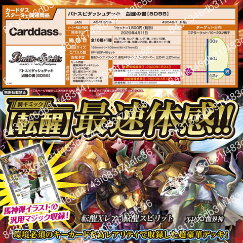 【已截訂】Bandai BATTLE SPIRITS DASH DECK [SD55]