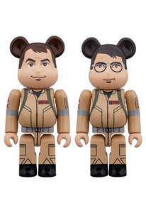 【已截訂】MEDICOM TOY BE@RBRICK GHOSTBUSTERS 100% 2PC SET Raymond StantzEgon Spengler
