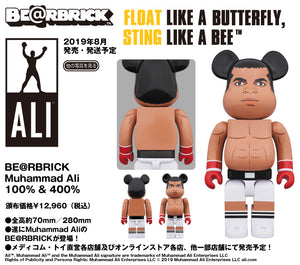 【已截訂】MEDICOM TOY BE@RBRICK Muhammad Ali 100%&400% Set