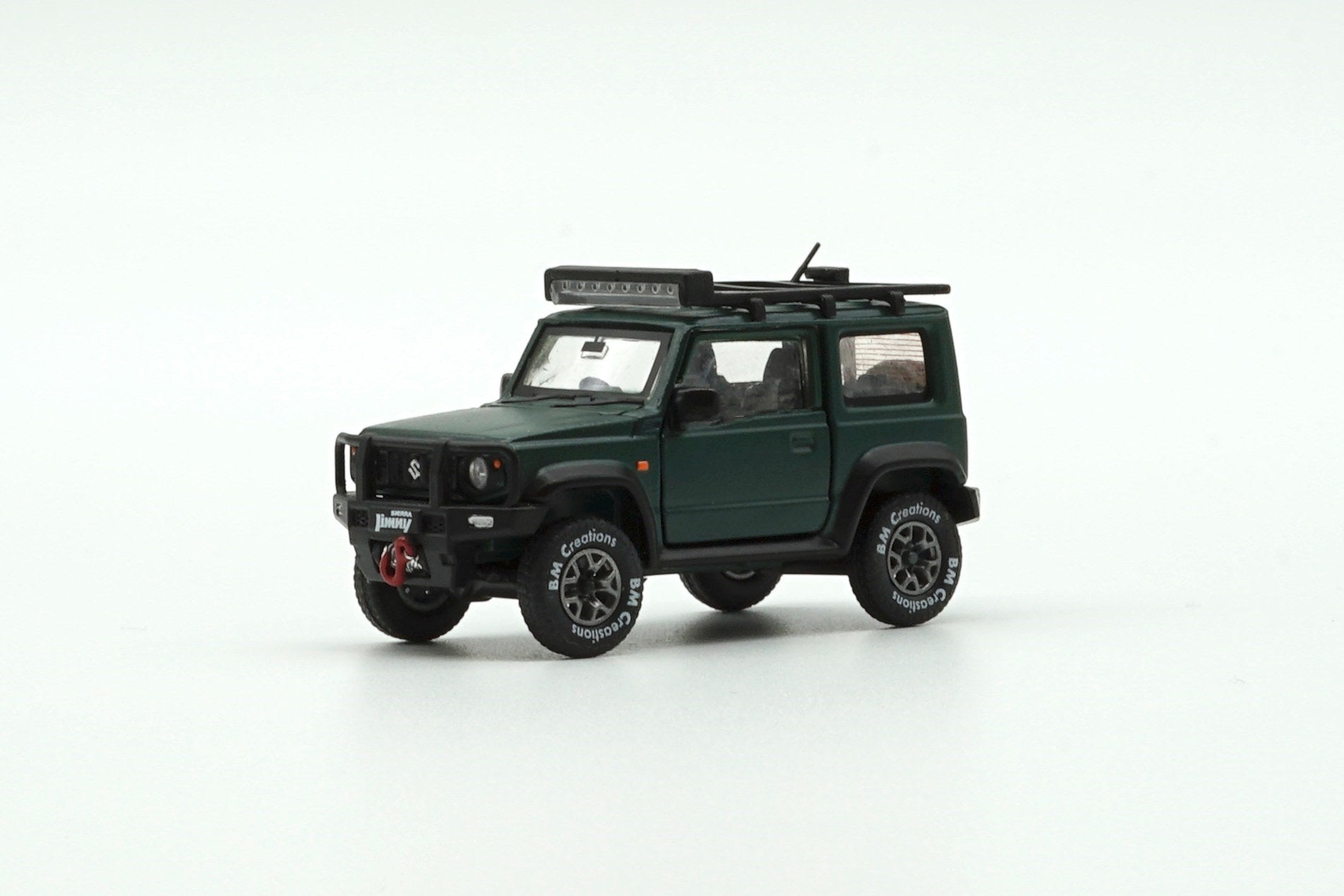 【已截訂】BM Creations 1/64 Suzuki Jimny (JB74) Matte Green waccessory pack (Right Hand Drive)