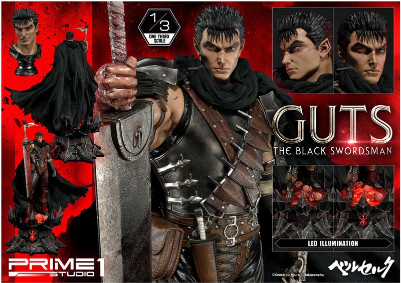 【已截訂】Prime 1 Studio Berserk Guts The Black Swordsman 1/3 Statue