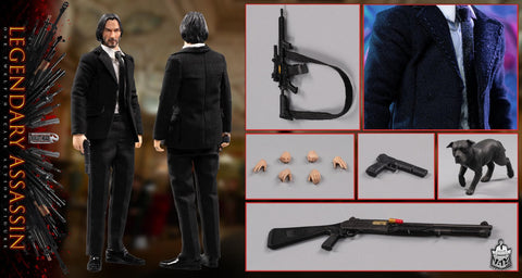 【預訂日期至10-Aug-20】Bullet Head 1/12  BH010  Legendary Assassin Action Figure