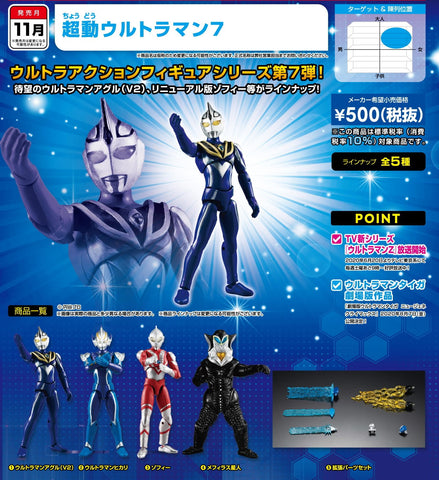 【已截訂】Bandai CHOU-DO Ultraman 7 (全5種)