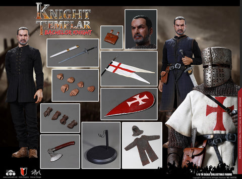 【預訂日期至05-Oct-19】COOMODEL SE056 1-6 SERIES OF EMPIRES (DIE-CAST ALLOY) - BACHELOR OF KNIGHTS TEMPLAR 1/6 Action Figure
