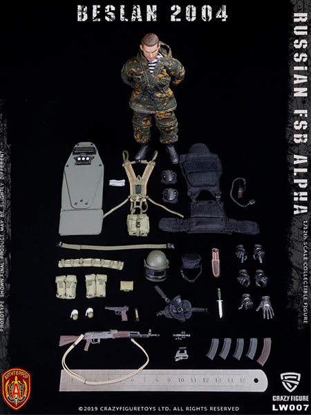【已截訂】Crazy Figure Russian Alpha Special Forces Heavy Shield Hand 1/12 Action Figure