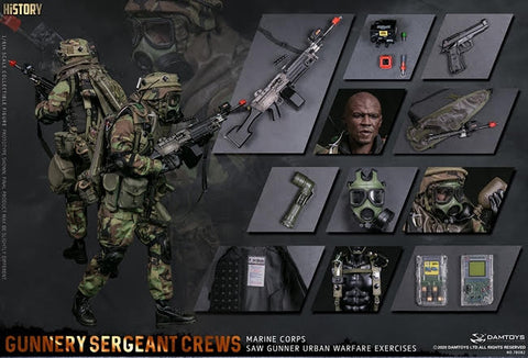 【預訂日期至29-Nov-20】DAMTOYS 78082 Gunnery sergeant Crews 1/6 Action Figure